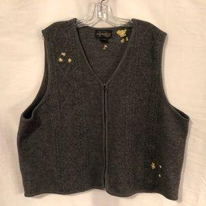 Requirements Plus Size 3X Vest Wool Gray 1126